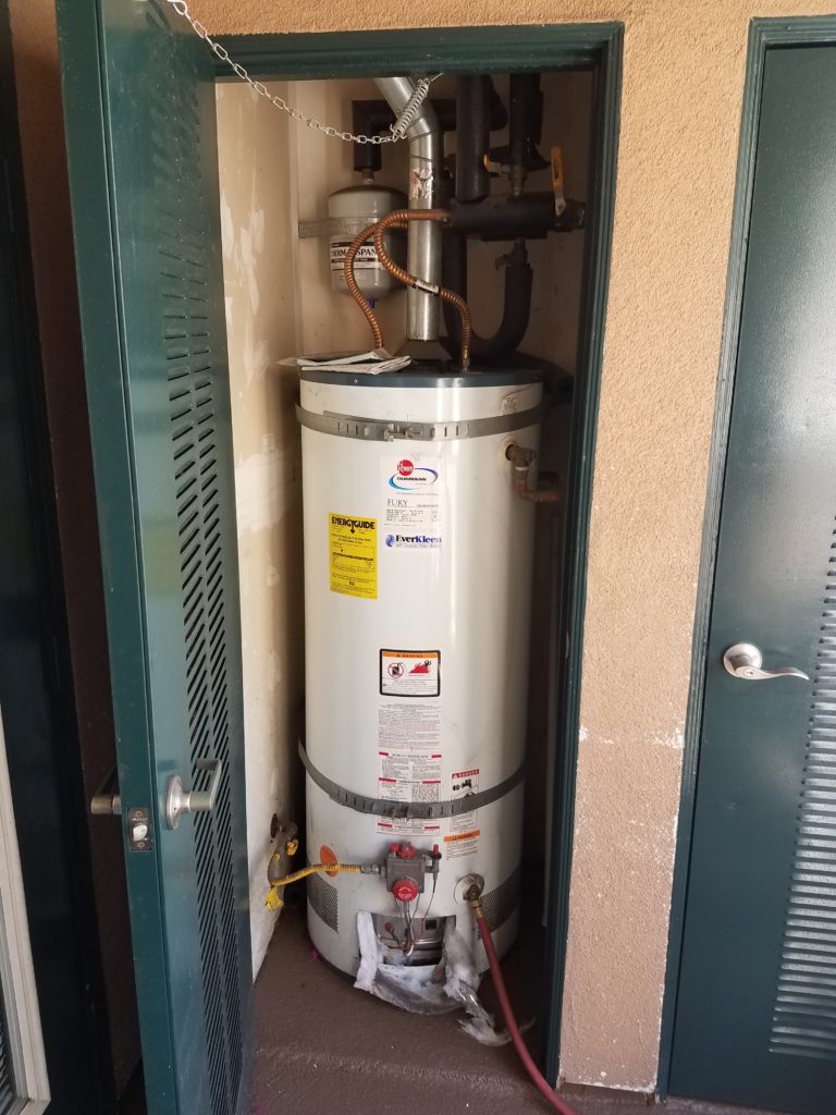 Old Water Heater in a Closet