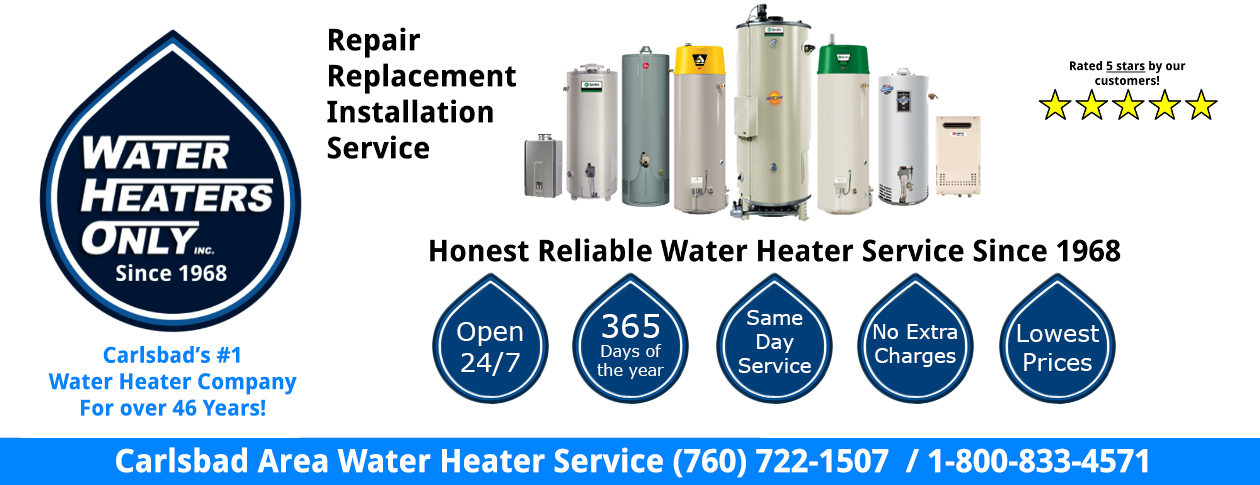 Carlsbad Water Heaters Only