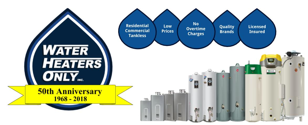 San Diego Water Heaters Only, Inc 2018